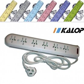 ZAPATILLA 6 TOMAS COLOR KALOP KS50001 CON CABLE 1.5MTS PROLONGADOR