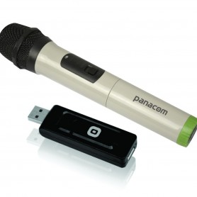 MICROFONO INALAMBRICO KARAOKE PANACOM MC-9706W USB MIC