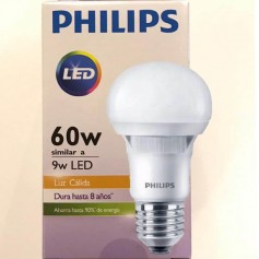 LAMPARA LED PHILLIPS 9W LUZ CALIDA