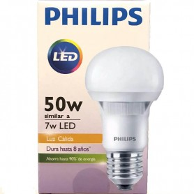 LAMPARA LED PHILLIPS 7W LUZ CALIDA
