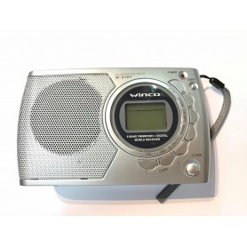 RADIO WINCO AM/FM RELOJ DESPERTADOR LCD ILUMINADO ALARMA PILAS W-3107