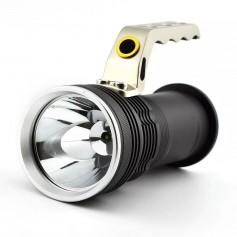 LINTERNA TACTICA MANGO METALICO LED RECARGABLE 12V Y 220V 800 LUMENES