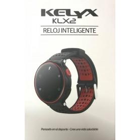 SMARTWATCH KELYX KLX2 RELOJ INTELIGENTE RITMO CARDIACO Y PRESION ARTERIAL IP68 ROJO