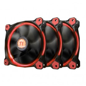 COOLER TT 12 RIING THERMALTAKE 120MM LED ROJO PACK X3 120X120X25