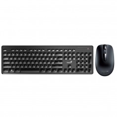 TECLADO GENIUS KIT + MOUSE INALAMBRICO GENIUS SLIMSTAR 8006 BLACK SMART TV