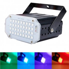 FLASH 24 LEDS RGB 5050 REGULABLE AUDIORITMICO Y AUTOMATICO PARA FIESTAS Y EVENTOS DJ