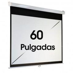 "PANTALLA PROYECTOR 60"" PULGADAS PARA PARED TECHO"