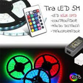 TIRA DE LED RGB COMPLETA 5050 DE MAXIMA POTENCIA