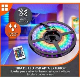 TIRA LED RGB DE COLORES CON MOVIMIENTO RITMICO AUTOMATICO