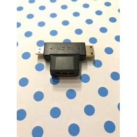 FICHA ADAPTADOR TRIPLE DE HDMI A HDMI MINI Y HDMI MICRO