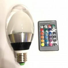 LAMPARA RGB DE COLORES CON CONTROL