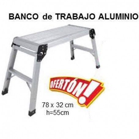 BANCO DE TRABAJO ALUMINIO 78 X 32CM ALTURA 55CM