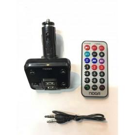 TRANSMISOR FM PARA AUTO MP3 MICROSD USB BLUETOOTH CON CONTROL CARGADOR 2A NOGA NG-25