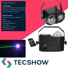 EFECTO DJ 3 3N 1 LED RGB LASER MADBOX CONTROL REMOTO