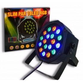 EFECTO DJ PROTON RGB 18 LED PAR ALTA LUMINOSIDAD AUDIORRITMICO DMX