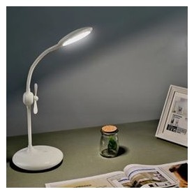 LAMPARA DE MESA LUZ LED + VENTILADOR TACTIL 2 EN 1 KTQ7A