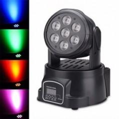 CABEZAL MOVIL 7 LED RGB AUDIORRITMICO DMX EFECTO DJ