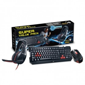 Combo Genius Gx Gaming Kmh-200 Mouse Teclado + Auriculares Gamer Super Value Pack