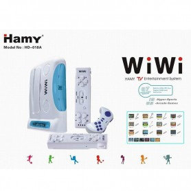 CONSOLA DE JUEGOS MY PLAY SIMIL WII WIRELESS HD-018 87 JUEGOS 16 BIT