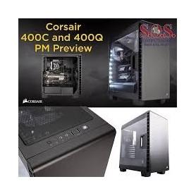 GABINETE PC GAMER CORSAIR CARBIDE 400C WHITE MID-TOWER S/FUENTE