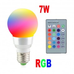 LAMPARA RGB LED DE COLORES CON CONTROL 7W