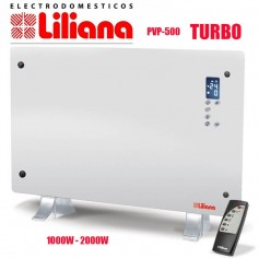 PANEL VIDRIO TURBO CALEFACTOR LILIANA HOTDECO PPV500 1000W 2000W DISPLAY CONTROL