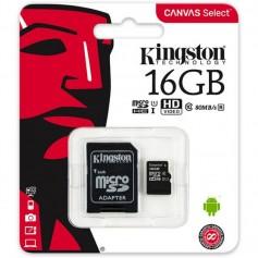 Memoria Micro Sd 16Gb Clase 10 Canvas Select 80Mb/S Kingston