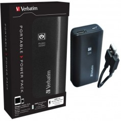 CARGADOR PORTATIL POWER BANK VERBATIM 4400MHA BATERIA