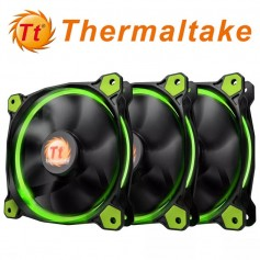 COOLER RIING 12 THERMALTAKE 120MM LED VERDE PACK X3 120X120X25MM