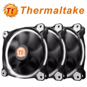 COOLER RIING 12 THERMALTAKE 120MM LED BLANCO PACK X3 120X120X25MM