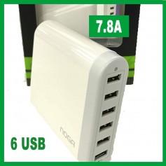 CARGADOR USB 6 SALIDAS 7.8A NOGA NG-670