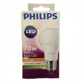 LAMPARA BULBO LED ROSCA E27 9.5W CALIDA PHILLIPS