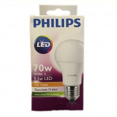 LAMPARA BULBO LED ROSCA E27 9.5W CALIDA PHILLIPS
