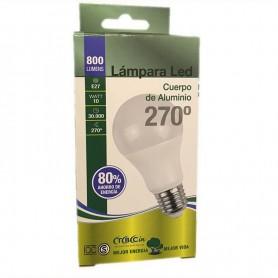 LAMPARA BULBO LED ROSCA E27 10W LUZ DIA