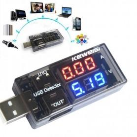 MEDIDOR DE VOLTAJE DIGITAL TESTER AMPERAJE CARGA USB 3V A 9V UT61B