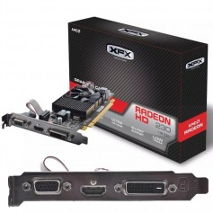 PLACA DE VIDEO XFX R5-230A-CLF2 AMD RADEON R7 250 1GB DDR3 HDMI