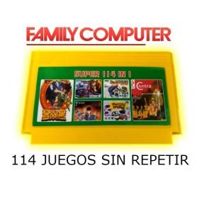 CARTUCHO FAMILY GAME MULTIPLE 114 EN 1 LOS MEJORES JUEGOS CASETTE