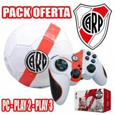 JOYSTICK INALAMBRICO RIVER PS2 PS3 Y PC + PELOTA N°2