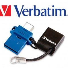PEN DRIVE 16GB VERBATIM DUAL USB 3.0 Y TIPO C