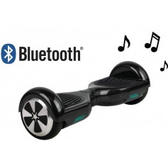 SKATE HOVERBOARD PATINETA ELÉCTRICA 6.5 PARLANTE BLUETOOTH 15 A 20KM/H MOTOR 700W NEGRO