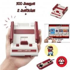 FAMILY GAME MINI CONSOLA DE VIDEO JUEGOS 500 JUEGOS