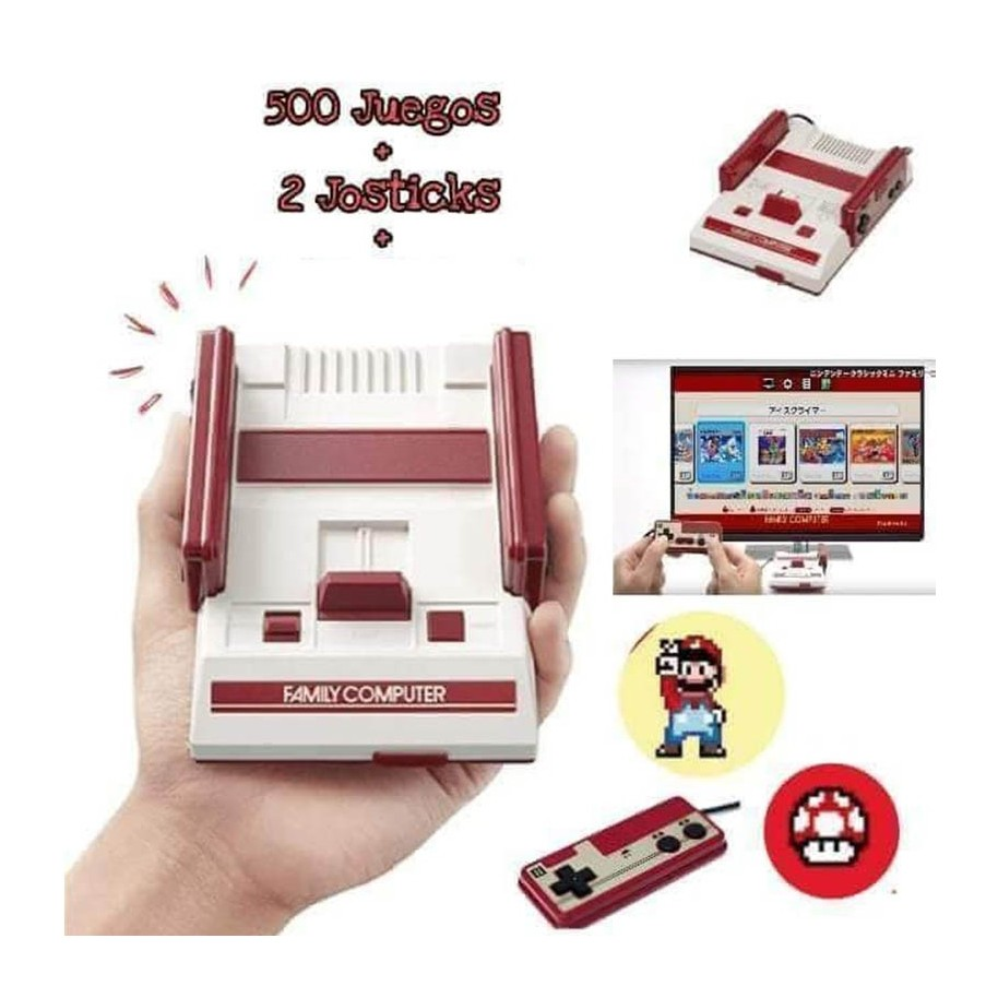 Family Game Mini Consola De Video Juegos 500 Juegos