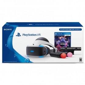 PS4 VR LAUCH BUNDLE CASCO + 2 MOVE + CAMARA + JUEGO VR WORLS PS4