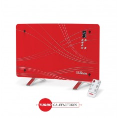 PANEL VIDRIO CURVO TURBO CALEFACTOR LILIANA PPV510 1000W 2000W DISPLAY CONTROL ROJO