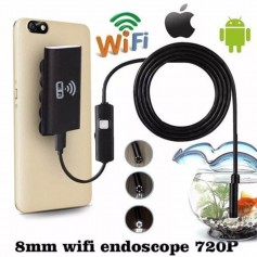 ENDOSCOPIO WIFI BOROSCOPIO CAMARA USB PARA WINDOWS O ANDROID INSPECCION CON LUZ LED Y 5MTS CABLE