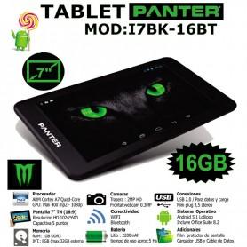 TABLET PANTER MONSTER I7BK-16BT0 QUAD CORE 1GB RAM 16GB BT 7'' NEGRA