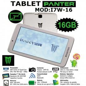 TABLET PANTER MONSTER 17W-16 QUAD CORE 1GB RAM 16GB BT 7'' BLANCA