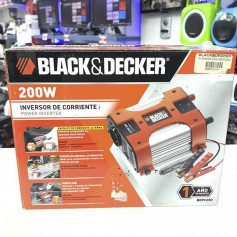 INVERSOR PORTATIL 12V 220V BLACK AND DECKER 200W PUERTO USB