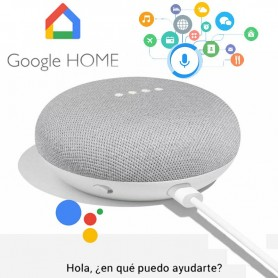 GOOGLE HOME MINI PARLANTE INTELIGENTE ASISTENTE VIRTUAL BLANCO NETFLIX SPOTIFY YOUTUBE
