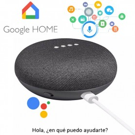 GOOGLE HOME MINI PARLANTE INTELIGENTE ASISTENTE VIRTUAL NEGRO NETFLIX SPOTIFY YOUTUBE